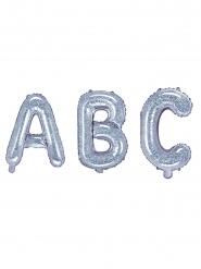 Balão de alumínio letra iridescente 35 cm