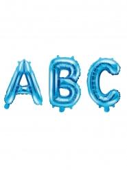 Balão de alumínio letra azul 35 cm