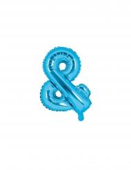 Balão de alumínio & azul 35 cm