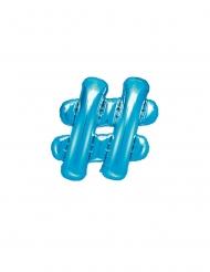 Balão de alumínio # azul 35 cm