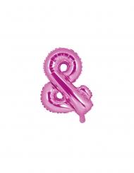 Balão de alumínio & cor-de-rosa 35 cm