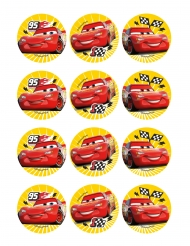 12 Decorações em ázimo para biscoitos Cars™ 6 cm