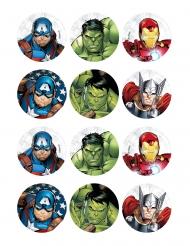 12 Decorações de ázimo para biscoito Avengers™ 5 x 8 cm