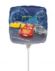 Balão pequeno em alumínio quadrado Cars 3™ 23 x 23 cm