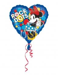 Balão de alumínio coração Minnie retro™ 43 cm