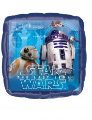 Balão quadrado de alumínio Star Wars o últino Jedi™ 43 x 43 cm