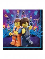 16 Guardanapos de papel A Grande Aventura Lego 2™ 33 x 33 cm