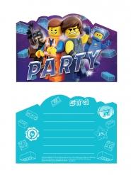 8 Convites e envelopes A Grande Aventura Lego 2™