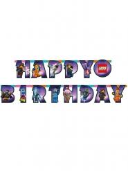 Grinalda de cartão Happy Birthday A Grande Aventura Lego 2™ 163 x 13 cm