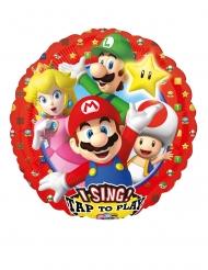 Balão de alumínio musical Super Mario Bros™ 71 x 71 cm