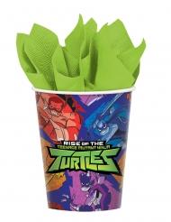 8 Copos de cartão O Destino das Tartarugas Ninjas™ 266 ml