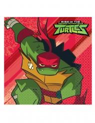 16 Guardanapos de papel O Destino das Tartarugas Ninja™ 33 x 33 cm