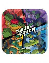 8 Pratos de cartão quadrados O Destino das tartarugas Ninja™ 23 x 23 cm
