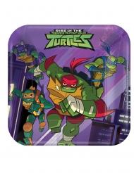8 Pratos pratos pequenos de cartão O Destino das Tartarugas Ninja™ 18 x 18 cm