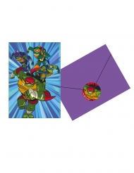 8 Convites com envelopes O Destino das Tartarugas Ninjas™