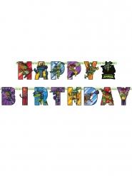Grinalda de cartão Happy Birthday O Destino das Tartarugas Ninja™ 200 x 15 cm