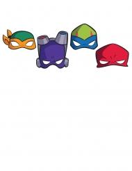 8 Máscaras cartão O Destino das Tartarugas Ninja™