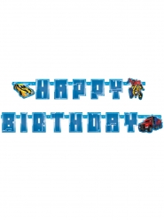 Grinalda de cartão Happy Birthday Transformers™ 180 x 15 cm
