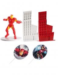 Kit decoração de bolo Iron Man™ 8 cm