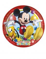 8 Pratos pequenos de cartão Mickey Mouse™ 20 cm