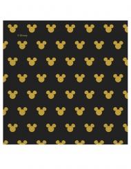 20 Guardanapos de papel  Mickey Gold™ 33 x 33 cm