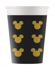 8 Copos de cartão Mickey Gold™ 160 ml