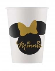 8 Copos de cartão Minnie Gold™ 160 ml