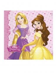 20 Guardanapos de papel Princesas Disney™ corações 33 x 33 cm