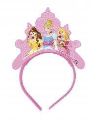 4 Tiaras de cartão Princesas Disney™ corações