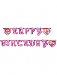 Grinalda Happy Birthday Princesas Disney™ corações