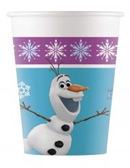 8 Copos de cartão Frozen™ flocos 200 ml