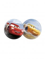8 Pratos pequenos de cartão Flash McQueen e Cruz Ramirez Cars 3™ 20 cm