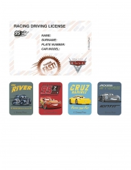 4 Convites e stickers Cars 3™