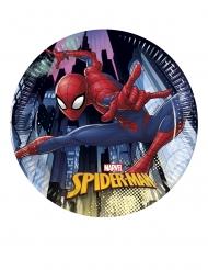 8 Pratos pequenos de cartão Spiderman™ 20 cm