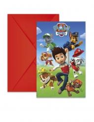 6 Convites com envelopes Patrulha Pata Entrar em ação™