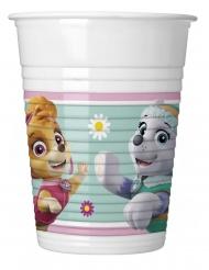 8 Copos de plástico Patrulha Pata Skye e Everest™ 200 ml