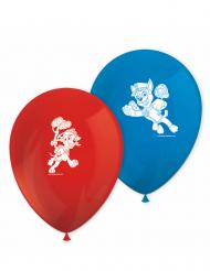 8 Balões de látex azuis e vermelhos Patrulha Patan entrar em ação™