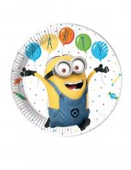 8 Pratos de cartão Minions ballons party™ 23 cm