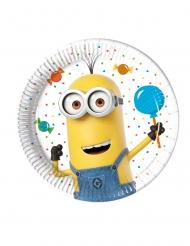 8 Pratos pequenos de cartão Minions ballons party™ 20 cm