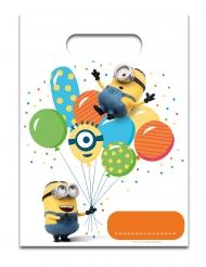 6 Sacos de festa Minions ballons party™ 23 x 17 cm