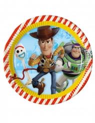 8 Pratos de cartão Toy Story 4™ 23 cm