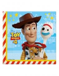 20 Guardanapos de papel Toy Story 4™ 33 x 33 cm