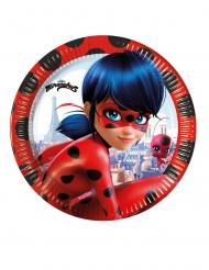 8 Pratos de cartão Miraculous Ladybug™ 23 cm