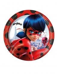 8 Pratos pequenos de cartão Miraculous Ladybug™ 20 cm
