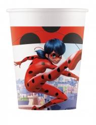 8 Copos de cartão Miraculous Ladybug™ 200 ml
