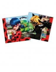20 Guardanapos de papel  Miraculous Ladybug™ 33 x 33 cm