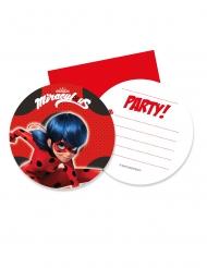 6 Convites com envelopes Miraculous Ladybug™
