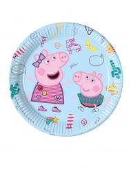 8 Pratos de cartão Peppa Pig™ 23 cm