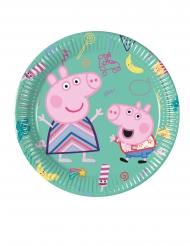 8 Pratos pequenos de cartão Peppa Pig™ 20 cm