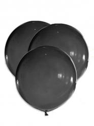 5 Balões gigantes látex pretos 47 cm